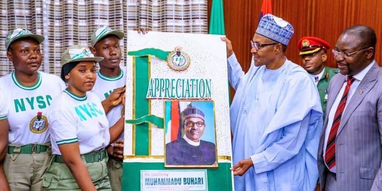 Image result for corps member thank president buhari